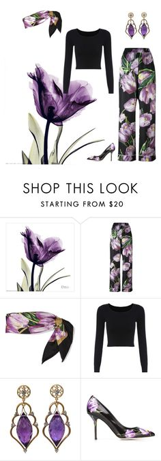"""""""purple tulips"""" by juliet-elizabeth-george on Polyvore featuring Dolce&Gabbana, trending, Bohemian and dolcegabana"""