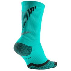 nike air jordan 1 vuelo - VHTF Nike Dri-Fit CREW ELITE Socks Black/Teal-Grey SX3694-030 Sz ...