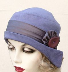 Vintage Flapper Hats for Women | women's Art Deco Flapper Hat in Classic 1920's Style Violet Purple ...