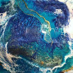 Art_By_SDS (@art_by_sds) • Instagram-Fotos und -Videos Resin Art, All Art, Underwater, Lightning, Amethyst, Texture, Rock, Crystals, Canvas
