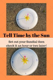 Craft a sun dial, position it correctly, and you will be able to tell time. Wow kids with this practical environmental science activity. Science Fair Projects, Science Experiments Kids, Science Activities, Science Fun, Summer Activities For Kids, Creative Activities, Sun Projects, School Projects, School Ideas