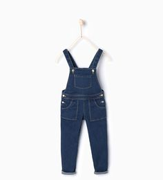Fitted denim dungarees