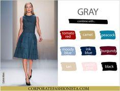 Color Coordinate Your Fall Wardrobe Like A Pro   CF's Color Compatibility Charts - Gray   CorporateFashionista.com