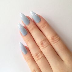 Pastel blue stiletto nails