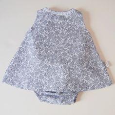 Vestido y cubrepañal gris Cíes | No llores patito