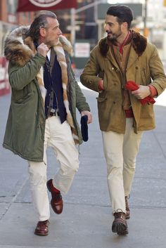 New York Fashion Week street style…Alessandro Squarzi and Max Poglia spotted on Lafayette Street