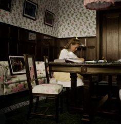 Maria Romanov doing her homework