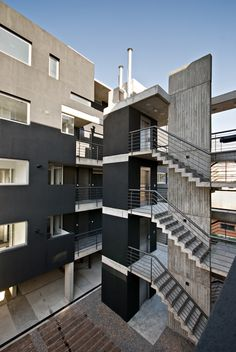 External Stairs Architecture Projects 22 Ideas For 2019 Stairs Architecture, Residential Architecture, Architecture Details, Interior Architecture, Circular Buildings, Unique Buildings, External Staircase, Social Housing, Staircase Design