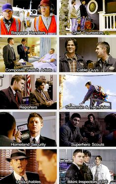 (gif set) Supernatural Dress Up 4