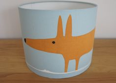 Beautiful handmade Mr Fox Lampshade, £35.00 from www.funkyolive.co.uk