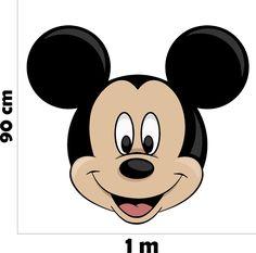 Adesivo Parede Quarto Infantil Crianca Mickey Rosto Disney