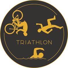 TRIATHLON SUPERPOWER Triathlete Vinyl Decal Sticker E