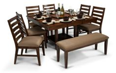 At my Bob's Discount Furniture you get quality dining room table sets for less! Choose from dozens of dining room sets in various styles and colors! Browse my huge selection of dining room furniture and you're sure find the look that will suit your dining space best! You get quality dining room furniture at discount dining room furniture prices! But you don't have to sacrifice quality for price!