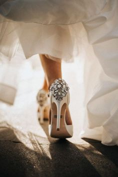 These Amazing Wedding Detail Photos will Inspire You to Capture Every Little Thing Bridal Shoes with the perfect amount of Bling Image by Will Khoury Photography Shoes Shoes Fashion style Converse Wedding Shoes, Wedge Wedding Shoes, Wedding Boots, Bridal Shoes, Wedding Photoshoot, Wedding Pics, Wedding Bride, Bling Wedding, Lace Wedding