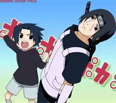 Anime/manga: Naruto (Shippuden) Characters: Sasuke and Itachi, my parents must have felt this way when I was a little kid...