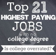 No college degree? No problem! Here's the top 21 paying jobs with no college…