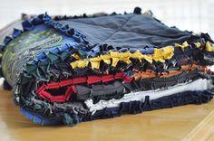 Frayed t-shirt quilt