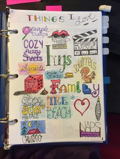 Things that I love. bullet journal.