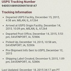 ????USPS DELAYED SHIPPING ANYONE ??? USPS delayed shipping due to Holidays ? Small Town , ?? Other