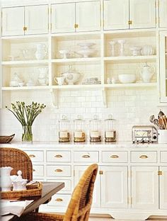 Color Outside the Lines: Kitchen Inspiration Month: Day Fourteen - Floor to Ceiling Subway Tile