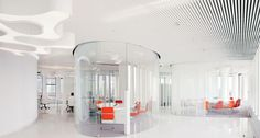 Office is located in business complex 'White Square' in Moscow and was recently completed by Mossine Partners. The interior is a typical open-space office. Open Space Office, Workplace Design, Office Interiors, Interior Design, Business, Projects, Inspiration, Furniture, Home Decor