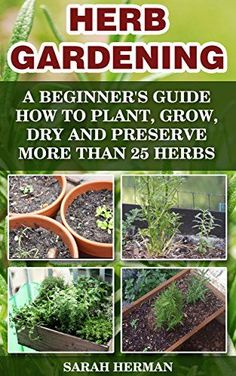 Herb Gardening A beginner's guide How to Plant, Grow, Dry and Preserve More than 25 Herbs: (Gardening, Gardening Books, Herb Garden, Gardening For Dummies) ... Gardening, Garden Ideas, Indoor Gardening) by [Herman, Sarah]