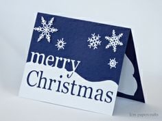 Christmas Card designed by lcm papercrafts using the Grand Merry Christmas die from Memory Box