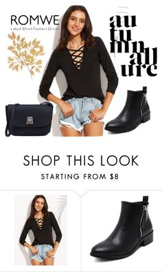 """#1/5 Romwe"" by ahmetovic-mirzeta ❤ liked on Polyvore"