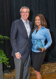 Ayanah Rashad and Dave North, President & CEO of Sedgwick
