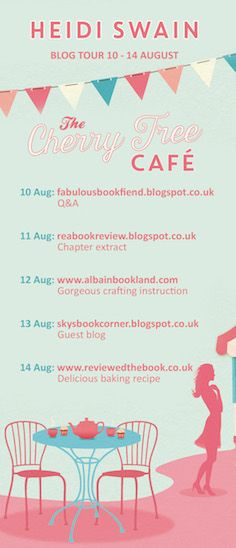 #TheCherryTreeCafe Blog Tour: The Inspiration - a guest post from @Heidi_Swain - http://skysbookcorner.blogspot.ch/2015/08/the-cherry-tree-cafe-inspiration-by.html -