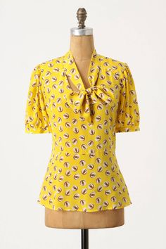 Lemon Liftoff Blouse by Girls from Savoy 2011