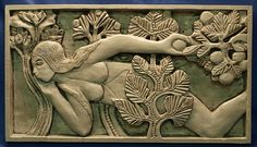 This Romanesque carving of Eve was created by master carver Gislebertus. It was carved in the early 12th century AD as part of a doorway to the Abbey of Saint-Lazare in France.