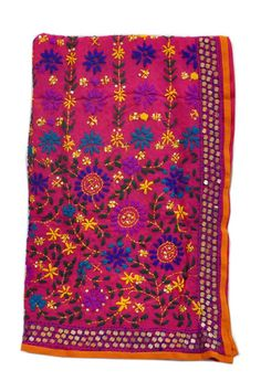 A rich and gorgeous phulkari dupatta