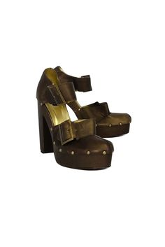 Nanette Lepore- Bronze Platform Heels Sz 8 | Current Boutique