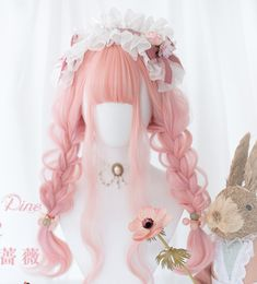 Discord - A New Way to Chat with Friends & Communities Kawaii Hairstyles, Pretty Hairstyles, Wig Hairstyles, Anime Wigs, Anime Hair, Cosplay Hair, Cosplay Wigs, Pastel Wig, Kawaii Wigs
