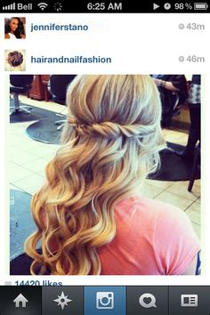 Im thinking something like this for my hair. Or even braid those pieces back.