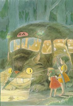 Hayao Miyazaki, Totoro watercolor