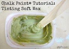 How to tint soft wax. A Chalk Pain® tutorial by Green Table Gifts. #chalkpaint #morethanpaint