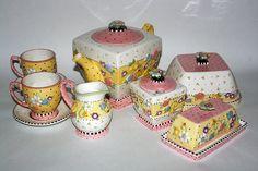 """Mary Engelbreit Teapots   Mary Engelbreit """"Meadow"""" Tea and Hostess Set"""