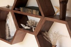 Geometric Shelf - Shelves - Shelving - Hexagon Shelf - Honeycomb Shelves - Modern shelf - Wall Shelf - Minimalist Shelves - Set of 3