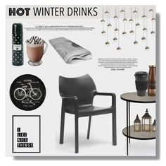 """#202 Hot Winter Drinks: 08/12/15"" by pinky-chocolatte ❤ liked on Polyvore featuring interior, interiors, interior design, home, home decor, interior decorating, Noir, Baxton Studio, ANGELINA and Homage"