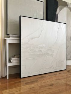 Joelle Somero provides interior design services and art and is based in Marquette, MI. Minimalist Painting, Minimalist Art, Textured Canvas Art, White Canvas Art, Diy Canvas Art, Plaster Art, Deco Design, Diy Wall Art, Texture Art