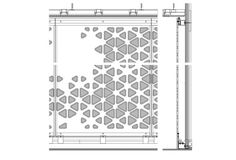 Elevation of perforated surface, DGJ+NAU architects.