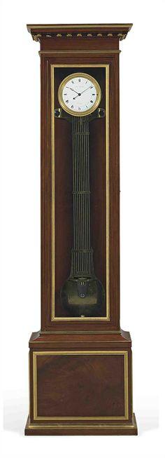 AN EMPIRE ORMOLU-MOUNTED MAHOGANY REGULATEUR DE PARQUET BY LOUIS BERTHOUD, HORLOGER DE LA MARINE, CIRCA 1807