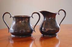 Antique Silver Cream and Sugar Set Meriden by CobblestonesVintage