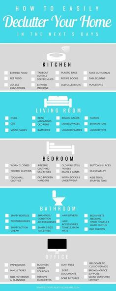 How to Easily Declutter Your Home in the Next 5 Days Checklist City of Creative Dreams declutter home declutter house declutter bedroom declutter tips Declutter Bedroom, Declutter Home, Declutter Your Life, Bedroom Cleaning, Diy Organizer, Bedroom Organization Diy, Home Organization Hacks, Kitchen Organisation, Home Hacks