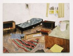 onepainting: Mamma Andersson: Digs 2006, Acrylic and oil on panel 61 x 83.5cm