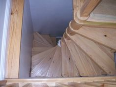 A small, spiral set like this that has very little storage (if any) under it, or a full set of stairs? all-wood-spiral-staircase-for-loft-conversion Loft Staircase, Attic Stairs, Spiral Staircase, Staircases, Small Staircase, Tiny Loft, Small Loft, Loft Conversion Bedroom, Attic Conversion