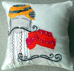 Indian August-Chanderi cushion cover