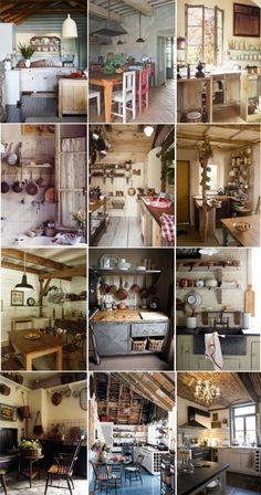 Cozinhas rústicas   Rustic Kitchens